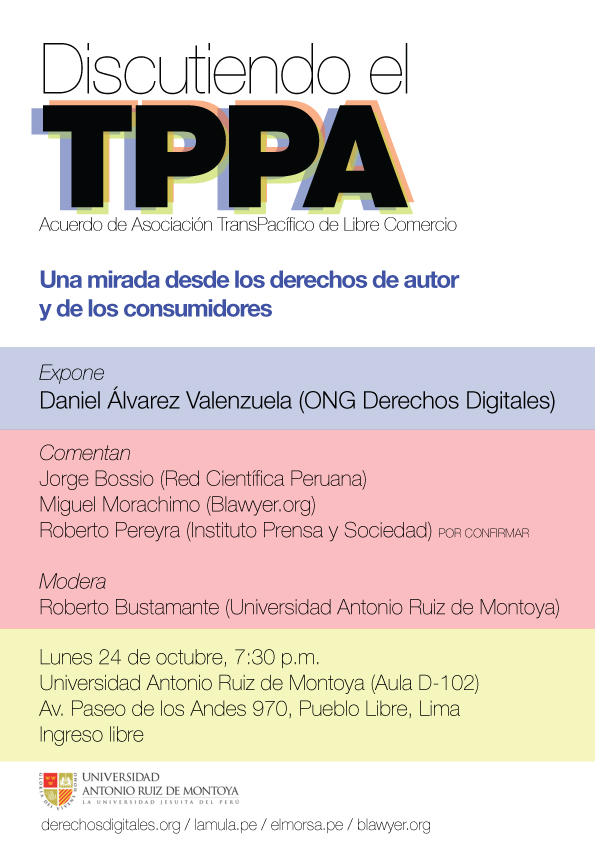 Afiche de Discutiendo el TPPA