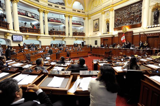 Pleno de Congreso de la República