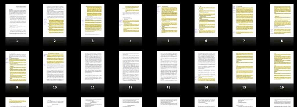 Detalle de las páginas copiadas