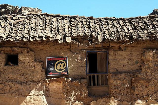 Cabina de Internet en Perú